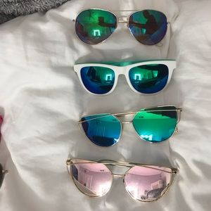 4 for $13 reflective sunglasses